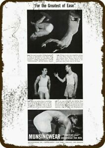 1942 MUNSINGWEAR Men's Underwear Vintage Look DECORATIVE METAL SIGN - BOB & JIM