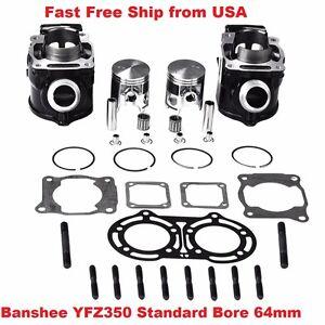 Yamaha Banshee 350 YFZ350 STD Bore 64mm Cylinder Piston Gasket kit 1987-2006