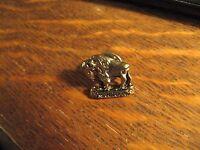 Manitoba Canada Pin - Vintage Canadian Buffalo Bison Souvenir Gold Lapel Hat Pin