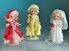 Monthly Dolls - Made in Hong Kong - Set of Three 8""