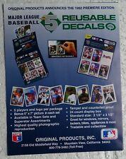 1992 High-5 Reusable Decals Sell Sheet (no cards) Cal Ripken, etc. + Order Forms