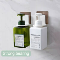 1-4X Bathroom Shower Plastic Liquid Shampoo Bottle Holder Wall Mount Rack Hanger