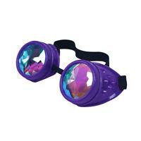 Kaleidoscope Rave Goggles Rainbow Crystal Lenses Goggles Cyber EDM Plur Rave