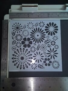 Flower Floral Stencil Scrapbooking Card Making Airbrush Painting Home Decor Art