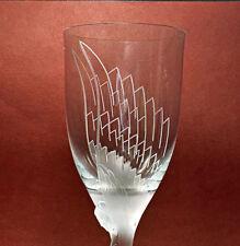 Lalique Angel Champagne Flute (Wine Glass) Signed & Pristine