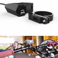 Motorcycle Bike 22mm Dual USB GPS Phone Socket Charger(Blue LED Voltage Display)