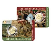 2 Euro Sondermünze/Gedenkmünze Belgien 2019 Pieter Bruegel in offiz. Coincard