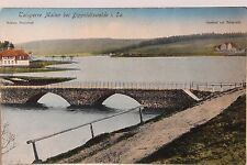 26356 AK Talsperre Malter bei Dippoldiswalde Schule Paulsdorf mit Brücke 1914