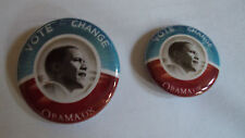 BARACK OBAMA VOTE FOR CHANGE CAMPAIGN PINS FROM 2008 ELECTION
