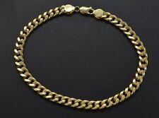 "Mens 6mm 14k Real Yellow Gold Miami Cuban Curb Chain Bracelet. 8 1/2"" 8.2gr"