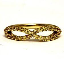 New 14k yellow gold womens yellow sapphire ladies gemstone ring 1.8g estate