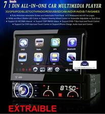 RADIO DVD UNIVERSAL 1 DIN, CARATULA EXTRAIBLE, 3G, GPS, BLUETOOTH, HD