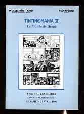 CATALOGUE VENTE BD ENCHERES  TINTINOMANIA 5    27/04/1996