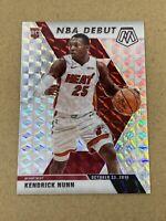 2019-20 Kendrick Nunn Mosaic Silver Prizm NBA Debut #268 RC Miami Heat