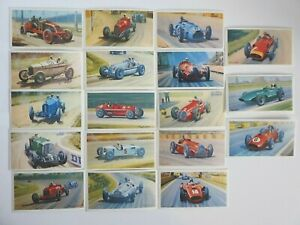 Collectible 1971 Trading - Mobil - The Story Of Grand Prix Motor Racing 18 Cards