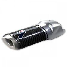 DUCATI Termignoni Carbon Auspuff Exhaust MULTISTRADA 1200 ABE silberne Blende