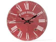 ULTIMO orologio da parete legno BISTRO parigi arredo stile antico retro shabby