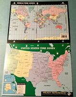 USA & World Map 8x10
