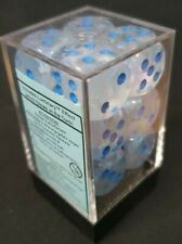 More details for chessex dice: borealis icicle / light blue 16mm d6 dice block (12 dice)