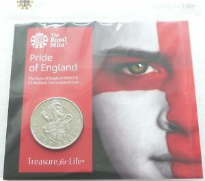 2018 Royal Mint Queens Beasts Pride of England £5 Five Pound Coin Pack Sealed