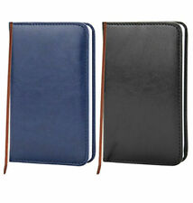 SMALL LEATHER LOOK POCKET SIZE RULED NOTE BOOK (A6) 14cm x 9cm HARDBACK NOTEBOOK