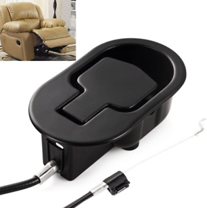 Recliner Replacement Parts Universal Black Metal Pull Recliner Handle with Cable