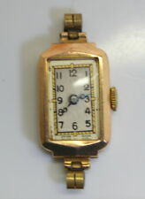RARE 9K GOLD SWISS/LONDON SYLVAIN DREYFUSS LADIES WATCH 6 JEWELS 1920's
