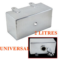 Universal Aluminum Car Windscreen Washer Can Intercooler Spray Reservoir Tank 2L