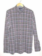 Mens HACKETT London Long Sleeve Check Cotton Shirt Large Authentic