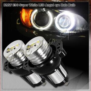 For 2006-2008 BMW E90/E91 325i 328i Bright White LED 6W Angel Eye Halo Rim Bulb