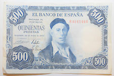 SPAIN: 500 Pesetas banknote since 1954 VF+ Condition EL BANCO DE ESPANA M4941464