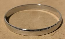 Vintage Signed Monet Silver Tone Hinged Bangle Bracelet