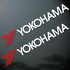 9.5X2PC. YOKOHAMA TIRES RACING DECALS STICKER CUT-OUT AUTO MOTOR SPORTS