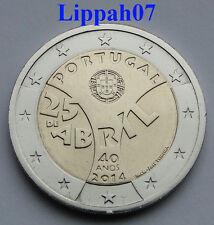 Portugal speciale 2 euro 2014 Anjerrevolutie UNC
