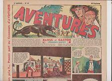 AVENTURES 1ère année 1936. n°25 - 22 septembre 1936.