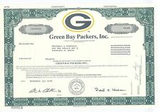 1997 GREEN BAY PACKERS STOCK CERTIFICATE/REPRODUCTION 1 SHARE UNFRAMED