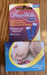 Dr. Scholls Dreamwalk Express Pedi Foot Smoother 2 Replacement Rollers Sealed