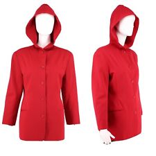 80s Norma Kamali hooded jacket / vintage 1980s Kamali Omo red blazer with hood 8