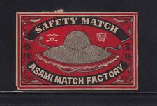 Ancienne   étiquette Allumettes Japon   AAA11060  Chapeau