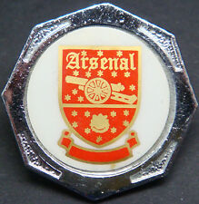 ARSENAL FC Vintage 1970s 80s insert type badge Brooch pin In chrome 31mm Dia