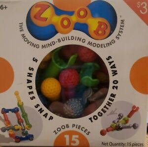 Infinitoy Zoob Pieces (15)  5 pieces snap together 20 ways, unlimited creativity