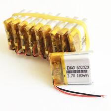 10 x pcs 180mAh Lipo Polymer Battery 3.7V For MP3 bluetooth headphone GPS 602020