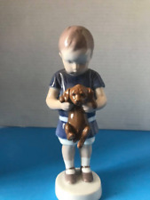 Boy with Puppy Dog Royal Copenhagen Porcelain Figurine - B&G #1747