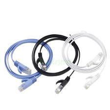 3pcs 1M CAT6 RJ45 Ethernet Network LAN Cable Flat UTP Patch Router DSL Cables