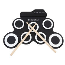 Portable Electronic Drum Kit Record Stick Pad Silicon Roll Up Musical Instrument