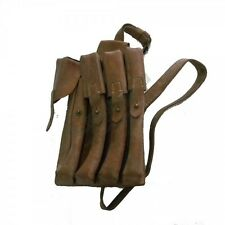 Porte chargeurs type MP 40 WW2 cuir / Magazine holder type MP 40 WW2 leather