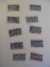 GERMANY; 10 X NOTOPFER 2 BERLIN STEUERMARKE - tax stamp - used Lot 1