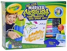 CRAYOLA Marker Airbrush DELUXE SET incl. Regular, Fabric & Window Markers, more!