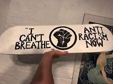 BLACK LIVES MATTER ANTI-RACISM Skateboard Art