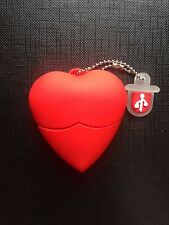 1 New Cute Red Heart-Shaped, 128MB USB Flash Drive Memory Stick